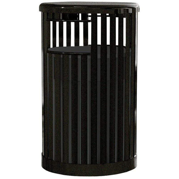 UltraSite Kensington 36 Gallon Steel Trash Receptacle - 41-SL - Trash Cans Depot
