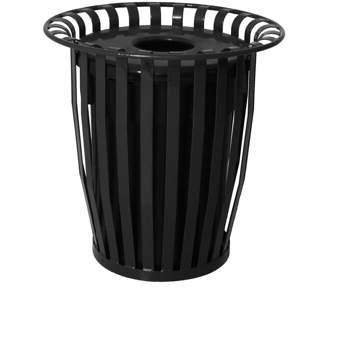 UltraSite Oxford 36 Gallon Steel Trash Receptacle - OX-36FT - Trash Cans Depot