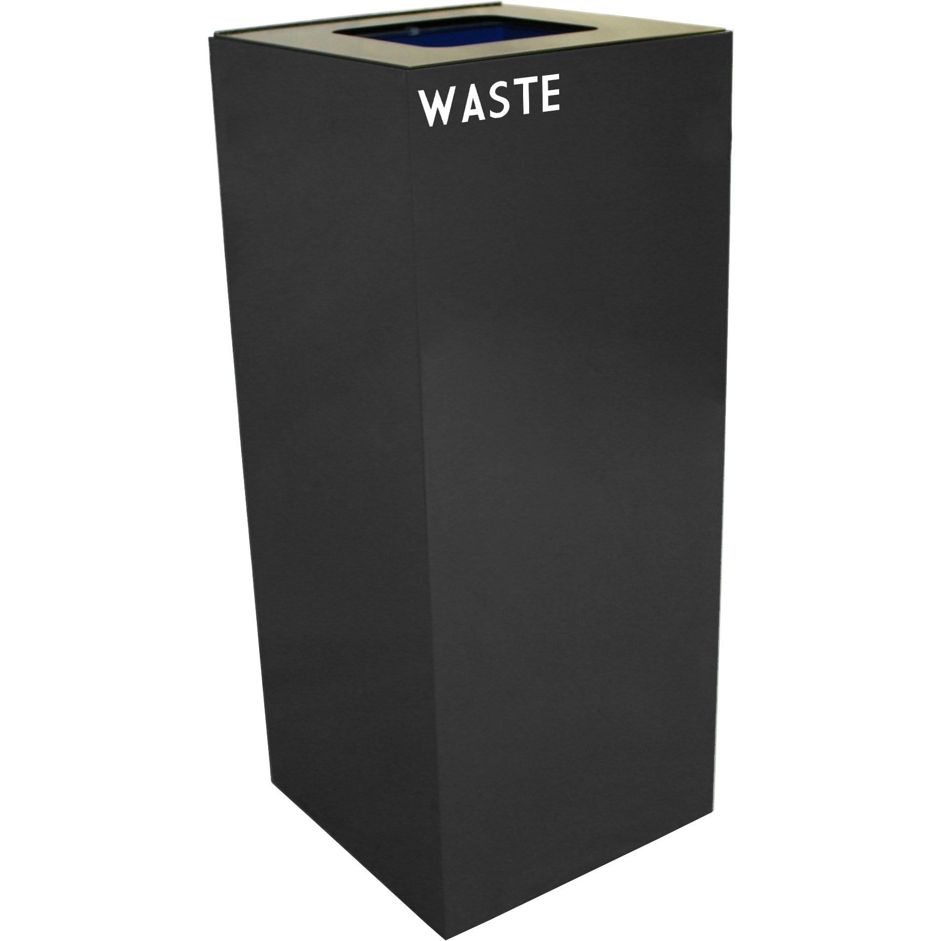 Witt Industries GeoCube Collection 36 Gallon Steel Trash Receptacle - 36GC03-CB - Charcoal