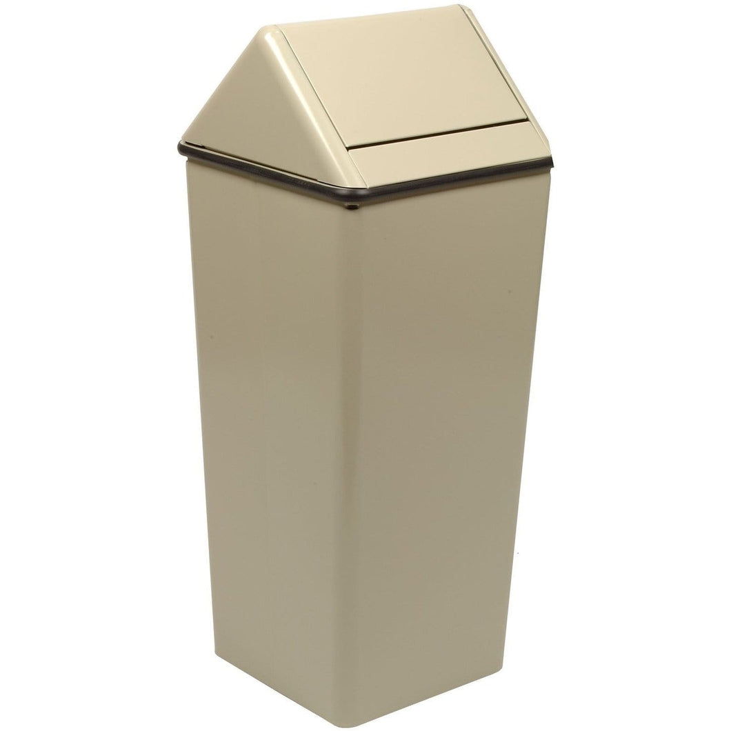 Witt Industries Waste Watcher Swing Top 36 Gallon Steel Trash Receptacle - 1511HTAL - Trash Cans Depot