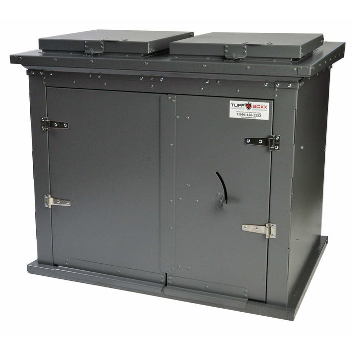 TuffBoxx Broot Animal Resistant 360 Gallon Steel Trash Receptacle - 453-006 - Trash Cans Depot
