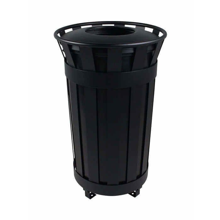 Busch Systems Denver 38 Gallon Single Stream Steel Trash Receptacle - 101479 - Trash Cans Depot