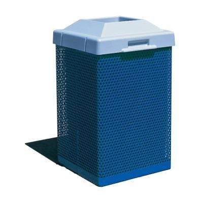 Wausau Tile Pitch In Top 38 Gallon Metal Trash Receptacle - MF3051 - Trash Cans Depot