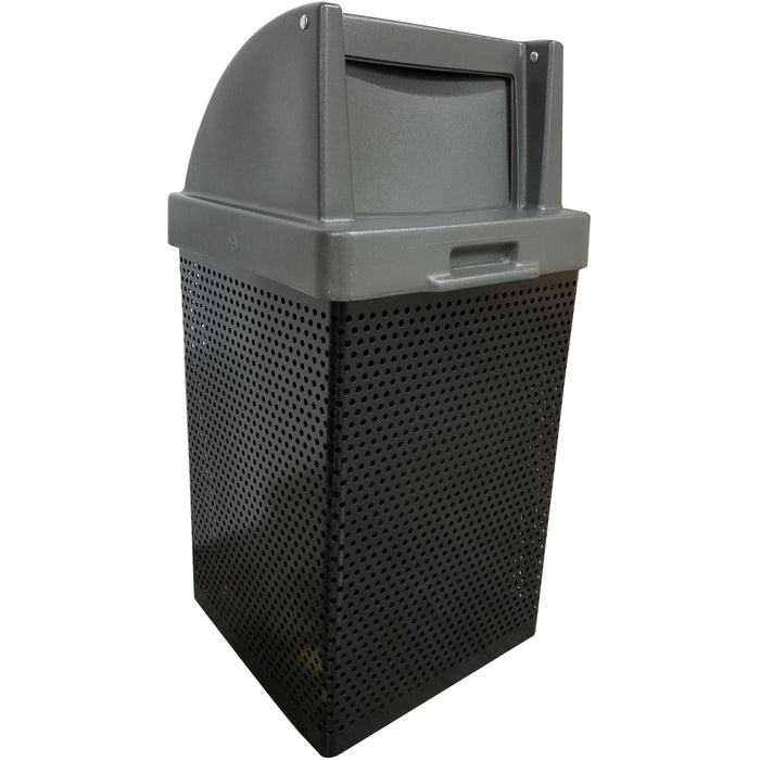 Wausau Made Push Door Top 38 Gallon Metal Trash Receptacle - MF3052 - Trash Cans Depot