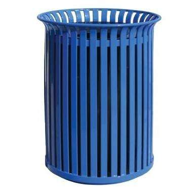 Wausau Made Funnel Top 39 Gallon Steel Trash Receptacle - MF3201 - Trash Cans Depot