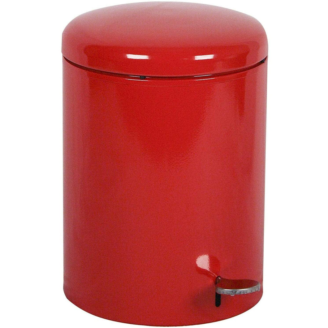Witt Industries Step-On 4 Gallon Steel Trash Receptacle - 2240RD - Trash Cans Depot
