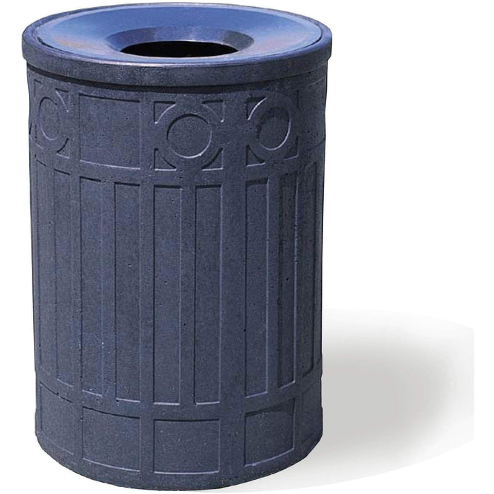 Tectura Designs Boca Raton Funnel Top 41 Gallon Concrete Trash Receptacle - WS1041 - Trash Cans Depot