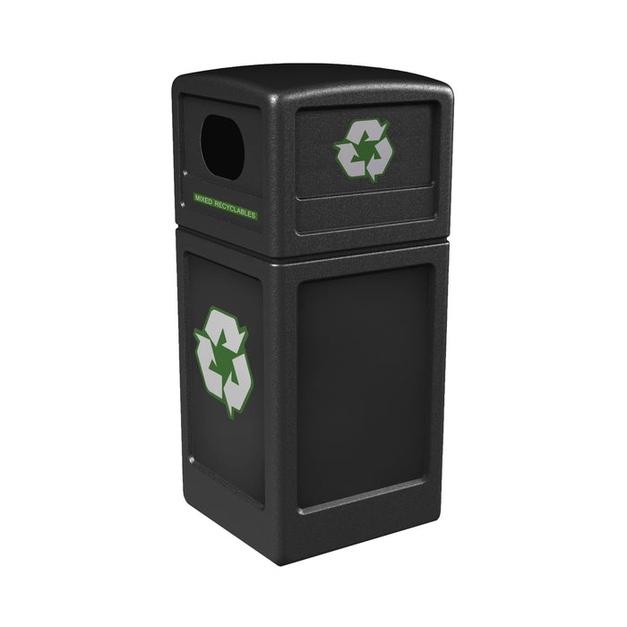 Commercial Zone PolyTec 42 Gallon Plastic Recycle42 Recycling Container - 74610199 - Trash Cans Depot