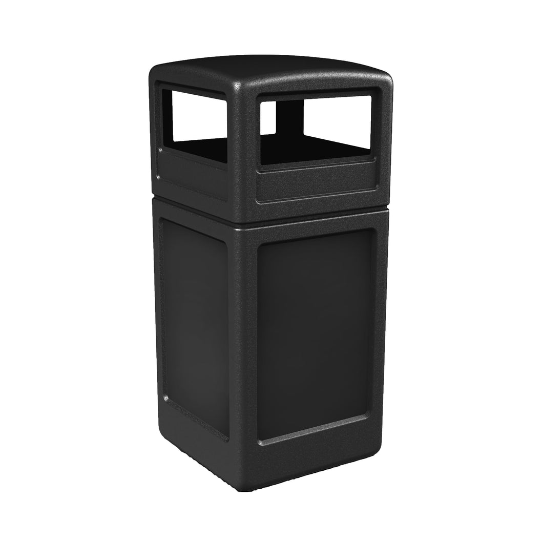Commercial Zone PolyTec 42 Gallon Plastic Dome-Lid Square Waste Container - 73290199 - Trash Cans Depot