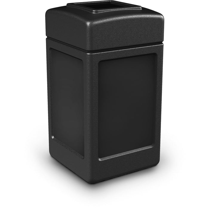 Commercial Zone PolyTec 42 Gallon Plastic Open-Top Square Waste Container - 732101 - Trash Cans Depot