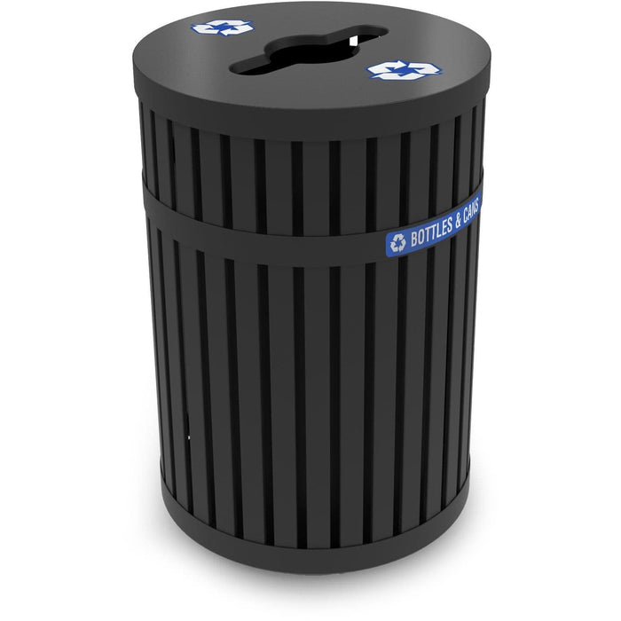 Commercial Zone ArchTec 45 Gallon Steel Parkview 3 Recycling Container - 728201 - Trash Cans Depot