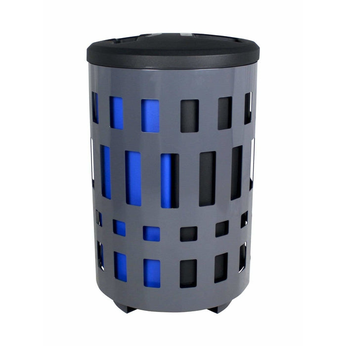 Busch Systems Vancouver 45 Gallon Double Stream Steel Recycling Receptacle - 101477 - Trash Cans Depot
