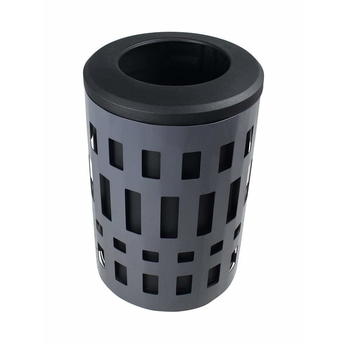 Busch Systems Vancouver 45 Gallon Single Stream Steel Trash Receptacle - 101475 - Trash Cans Depot