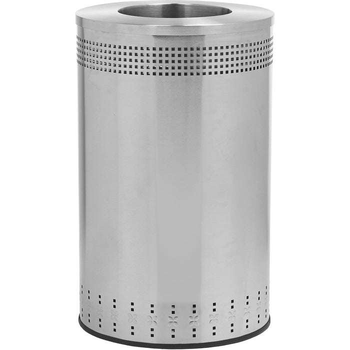 Commercial Zone Precision 45 Gallon Stainless Steel Large Open-Top Imprinted Waste Container - 782329 - Trash Cans Depot