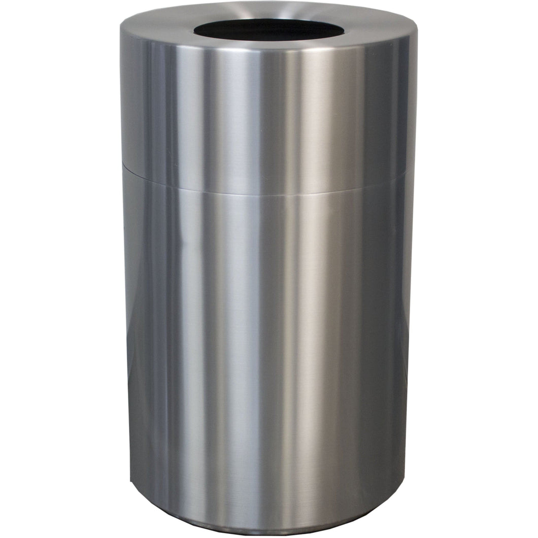 Witt Industries Aluminum Series 45 Gallon Trash Receptacle - AL55-CLR - Trash Cans Depot