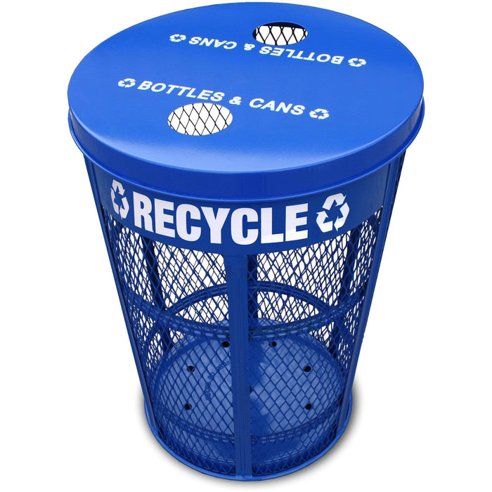Witt Industries Expanded Metal 48 Gallon Steel Recycling Receptacle - EXP-52NPBL-FTR - Trash Cans Depot