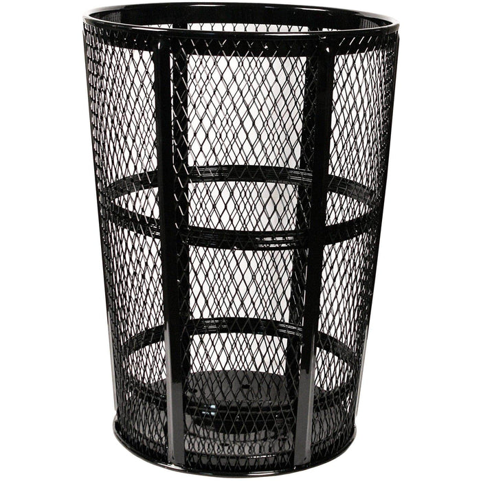 Witt Industries Expanded Metal 48 Gallon Steel Trash Receptacle - EXP-52BK - Trash Cans Depot