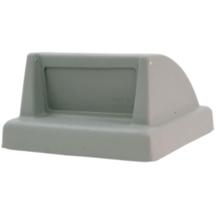 Wausau Tile Push Door Top 53 Gallon Concrete Trash Receptacle Lid - TF1430 - Trash Cans Depot