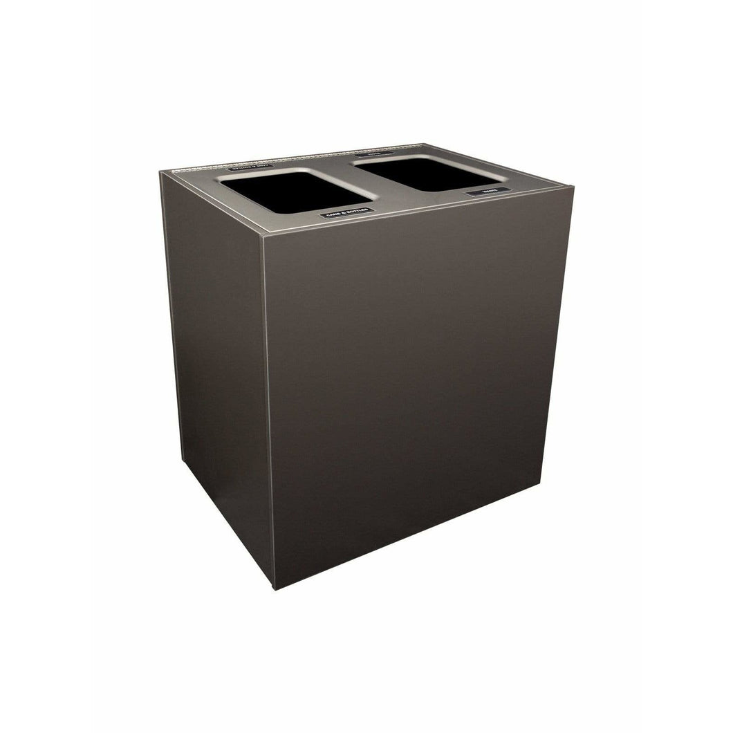 Busch Systems Aristata 56 Gallon Double Stream Composite Board Recycling Receptacle - 104146 - Trash Cans Depot