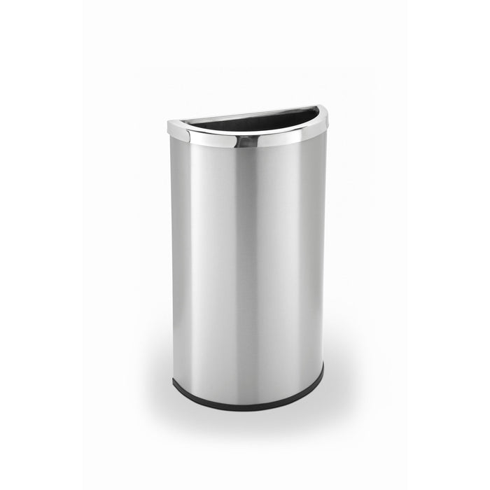 Commercial Zone Precision 8 Gallon Stainless Steel Half-Moon Waste Container - 780929 - Trash Cans Depot