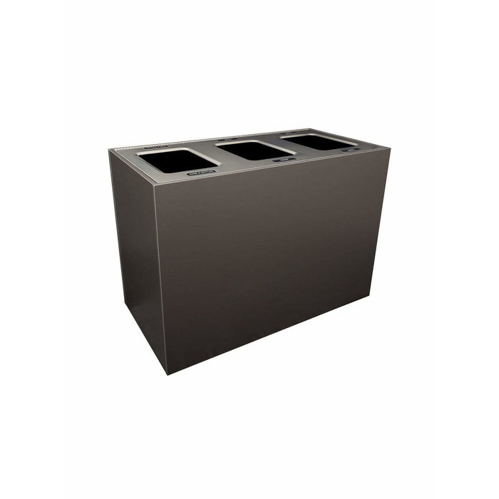 Busch Systems Aristata 84 Gallon Triple Stream Composite Board Recycling Receptacle - 104148 - Trash Cans Depot