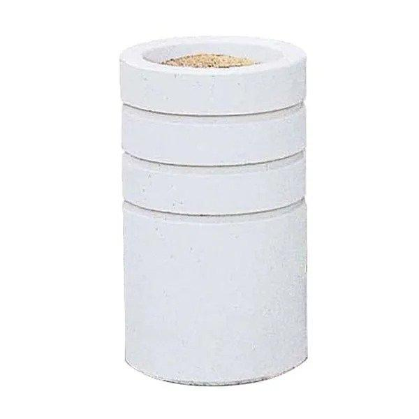 Wausau Tile Round Designer Concrete Cigarette Receptacle Ashtray - TF2001 - Trash Cans Depot