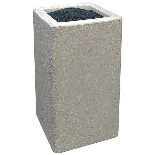 Wausau Made Square Concrete Cigarette Receptacle Ashtray - TF2040 - Trash Cans Depot