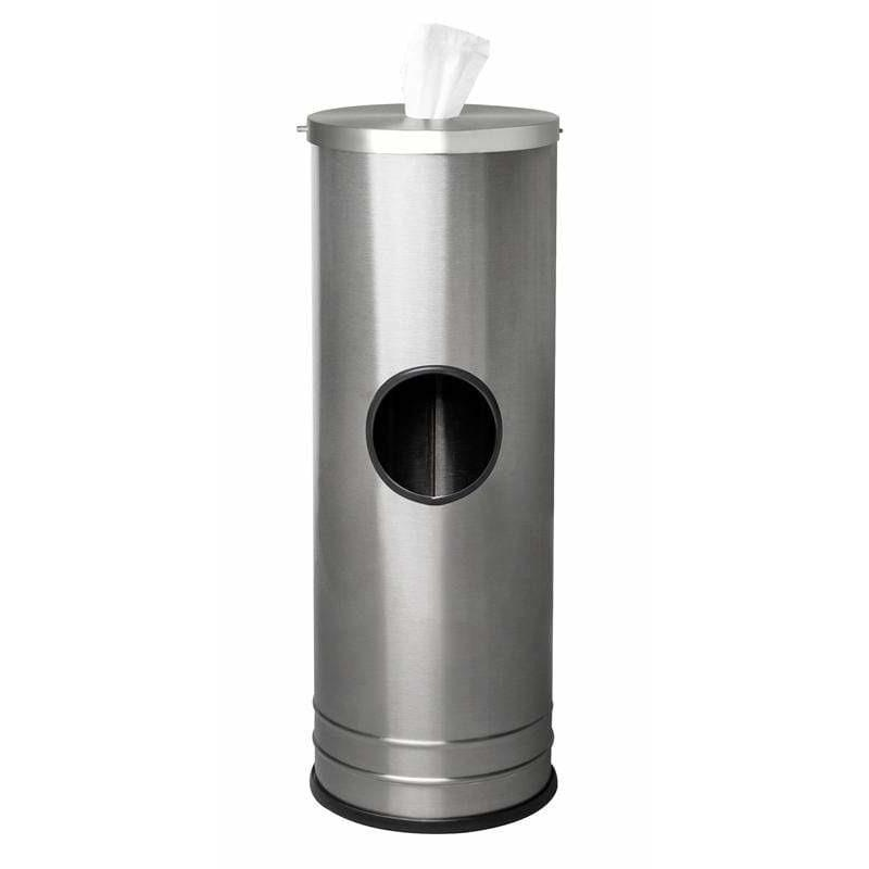 Ex-Cell Kaiser Stainless Steel Disinfecting Wipe Dispenser With 3 Gallon Waste Receptacle - SW-DSP-01 SS - Trash Cans Depot
