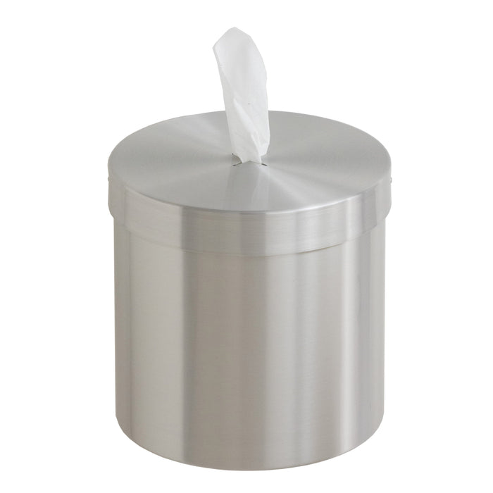 Glaro Satin Aluminum Wall Mounted Disinfecting Wipe Dispenser - W1015-SA-AW1 - Trash Cans Depot