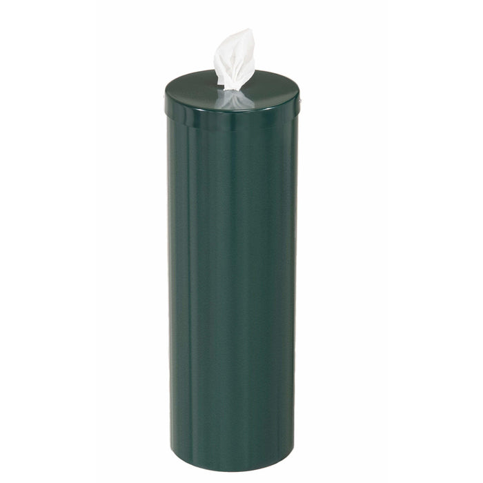 Glaro Steel Disinfecting Wipe Dispenser With Extra Storage - F1026-HG-AW1 - Trash Cans Depot