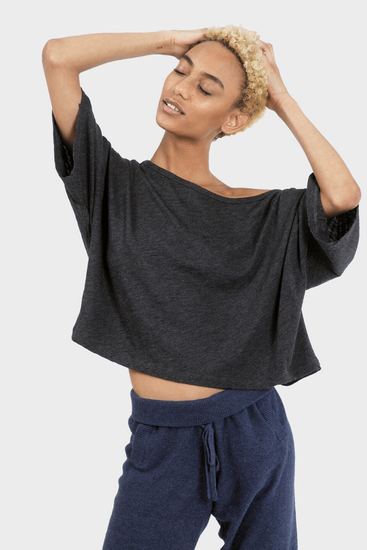 337 Brand Women's Tops and Tees Lumi Crop Top • Charcoal