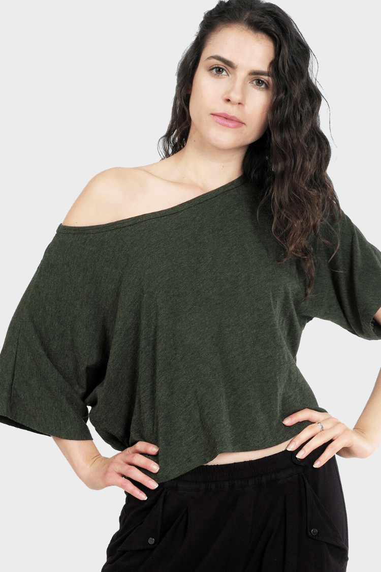 337 Brand Women's Tops and Tees Lumi Crop Top • Forest