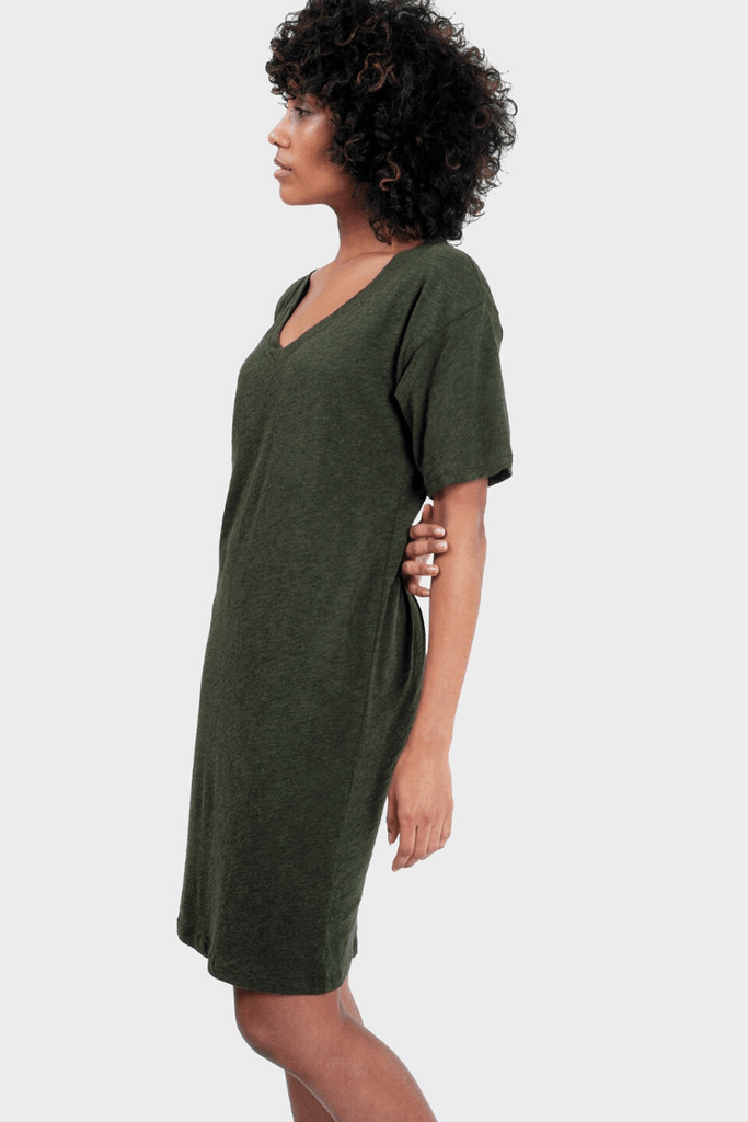 337 Brand Women's Dresses Mika T-Shirt Dress • Forest
