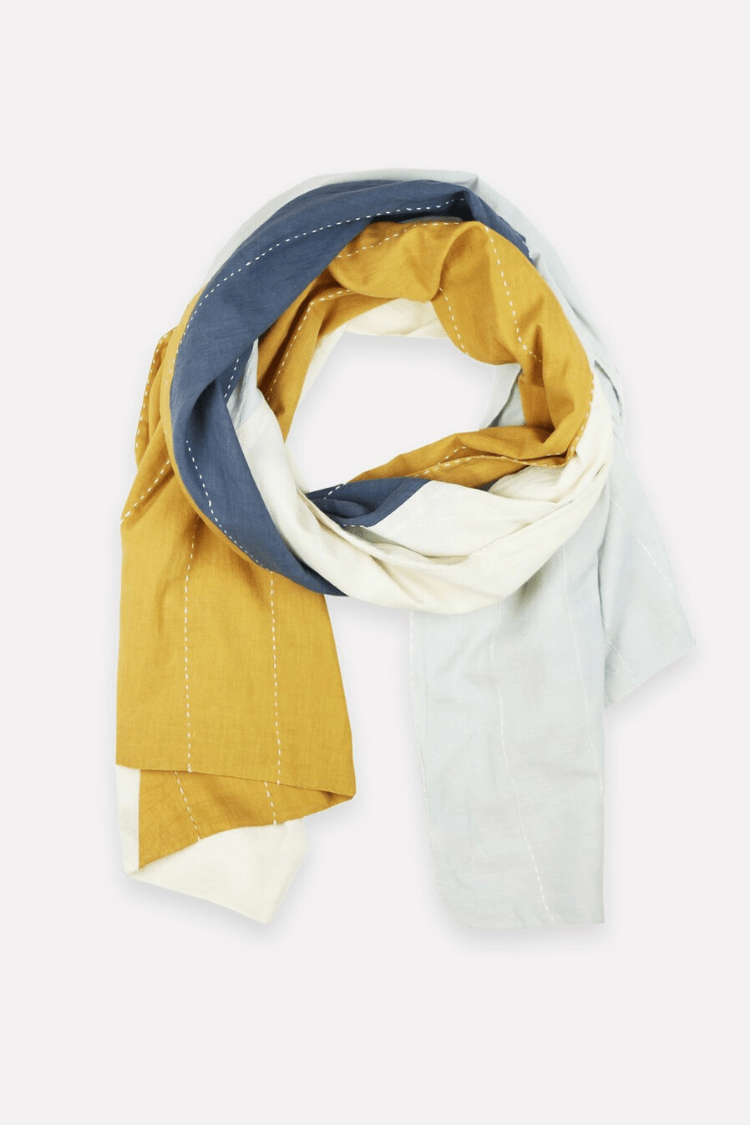 Anchal Women's Scarves Colorblock Scarf • Mustard