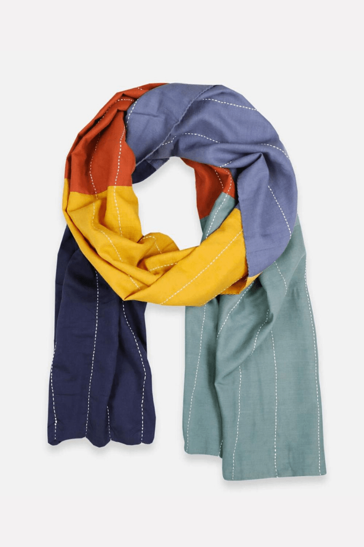 Anchal Women's Scarves Colorblock Scarf • Rainbow