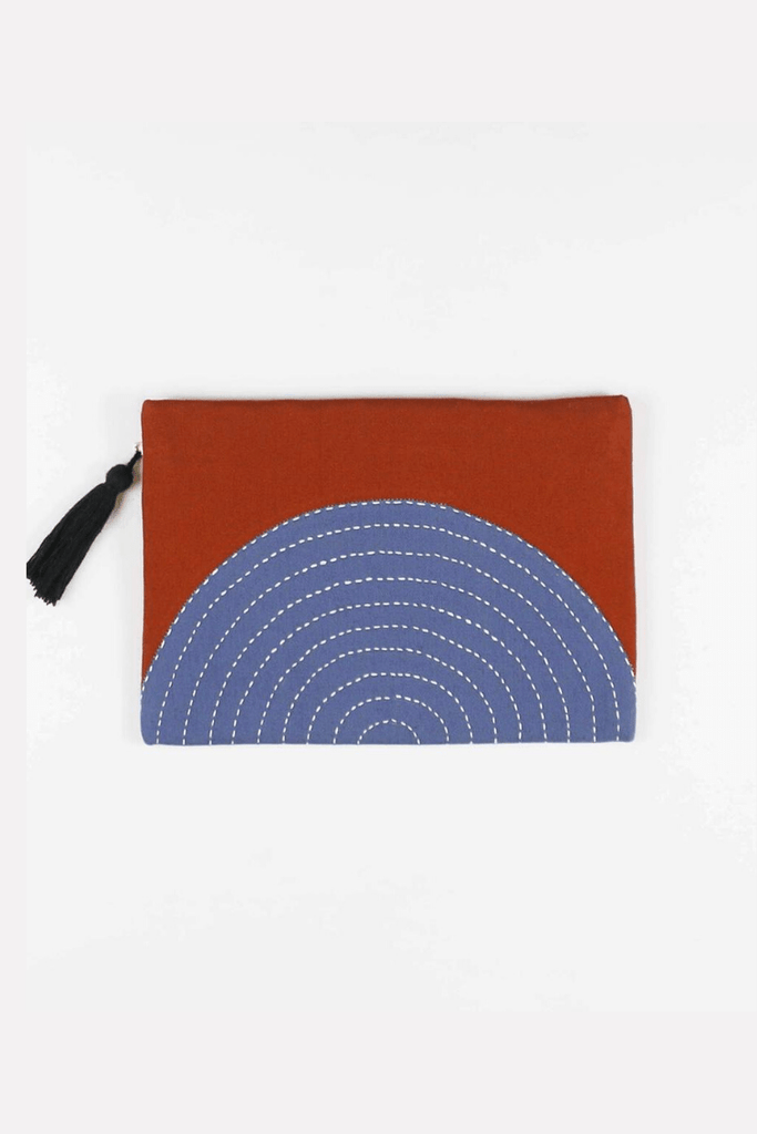 Anchal Women's Clutches Eclipse Pouch Clutch • Rust