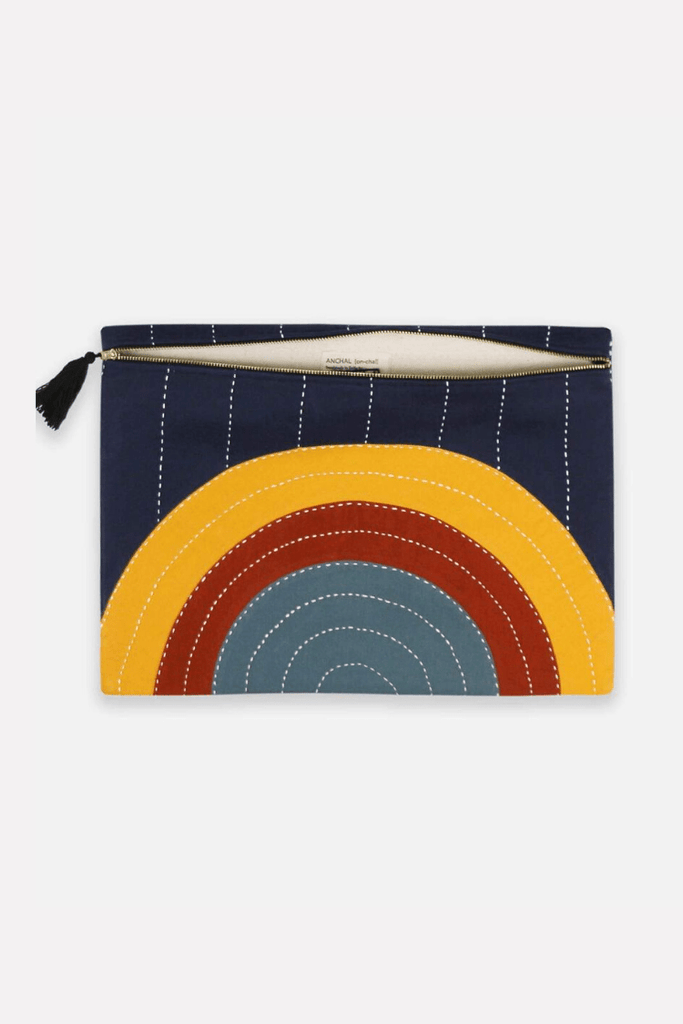 Anchal Women's Clutches Oversized Pouch Clutch • Rainbow