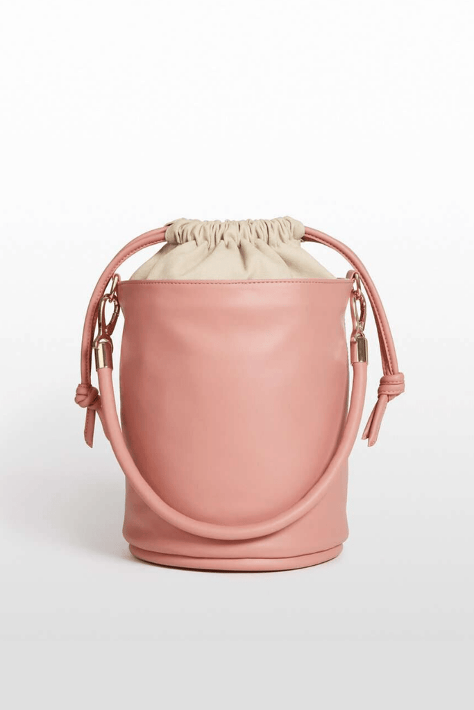 Hozen Women's Purses Drawstring Bucket • Roseate