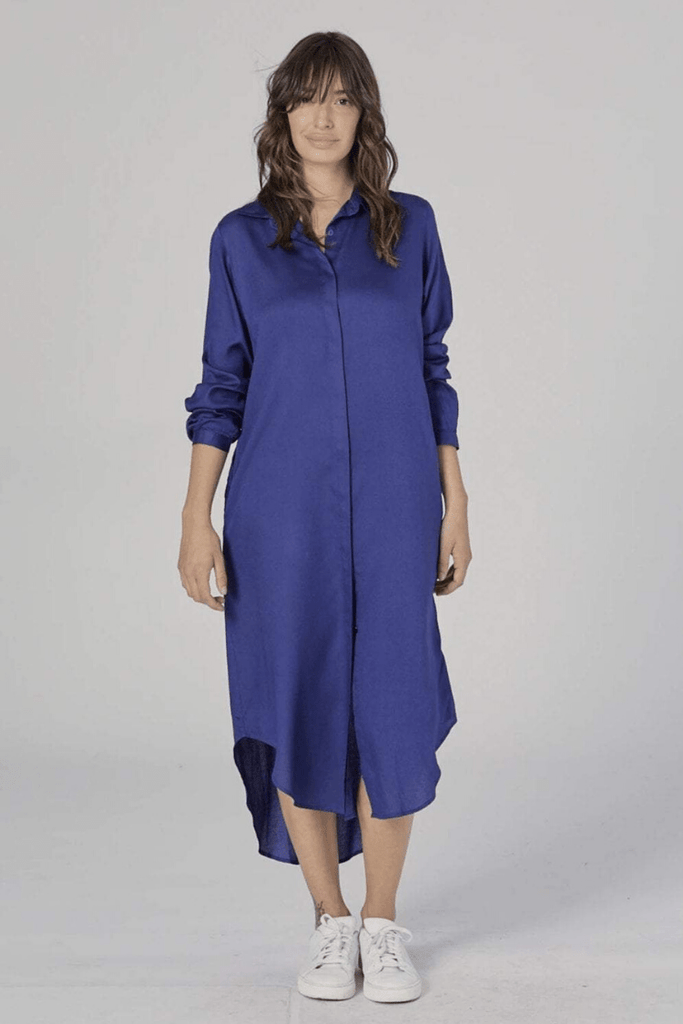 Neu Nomads Women's Dresses Essential Shirt Dress • Lapis Blue