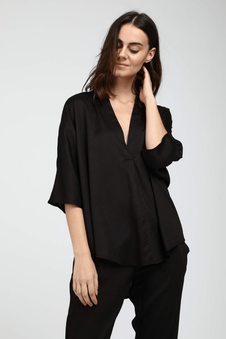 Neu Nomads Women's Tops and Tees Kerala Blouse • Black
