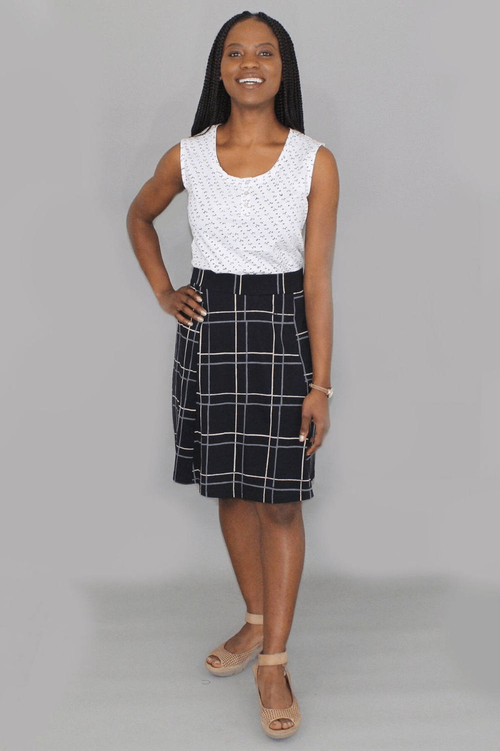 Passion Lilie Women's Skirts Jane Plaid Skirt