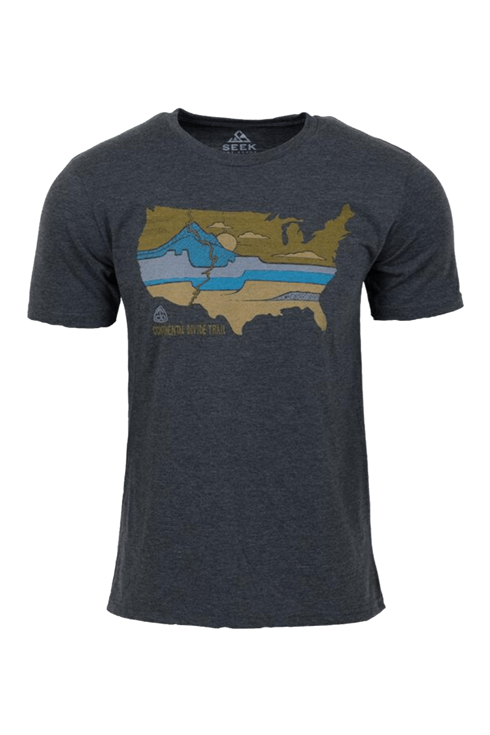Seek Dry Goods Men's T-Shirts Continental Trail T-Shirt • Heather Coal