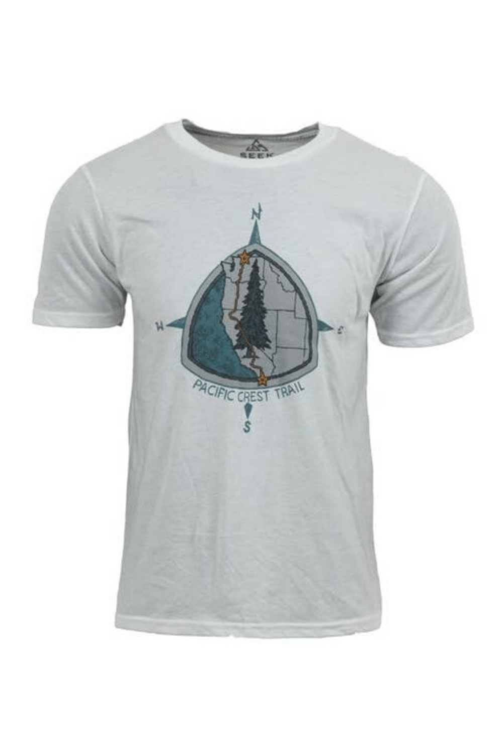 Seek Dry Goods Men's Tees Pacific Crest Trail T-Shirt • Heather Snow