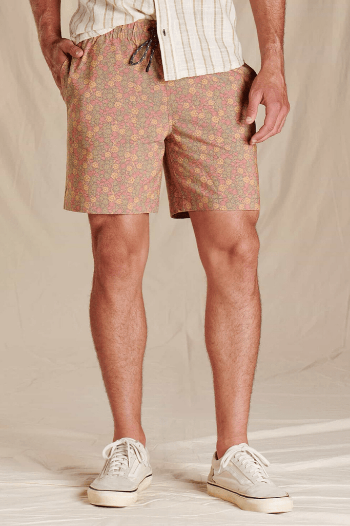 Toad & Co. Men's Shorts Boundless Pull-On Shorts • Chestnut Floral