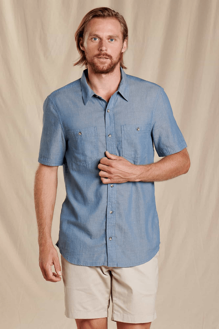 Toad & Co. Men's Tops Honcho Short Sleeve Shirt • High Tide