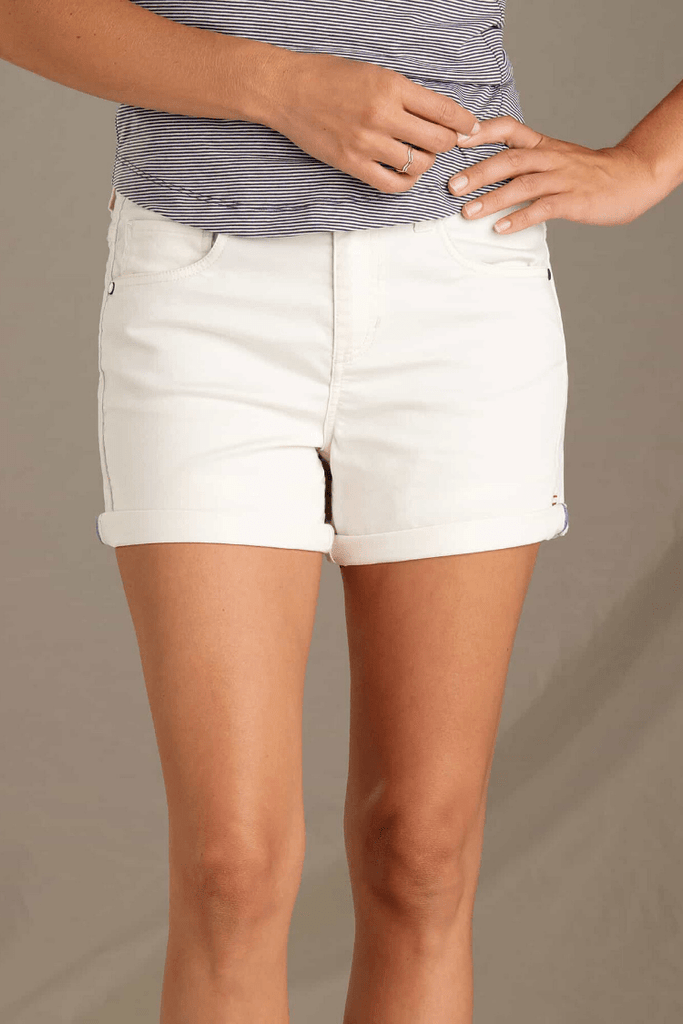 "Toad & Co. Women Shorts Sequoia 5"" Shorts • Egret"
