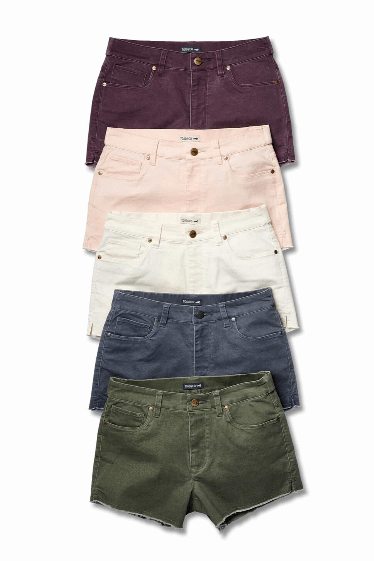Toad & Co. Womens Shorts Sequoia Fringe Shorts • Beetle
