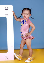 Load image into Gallery viewer, Minky Star- Kids Ruffle Leotard