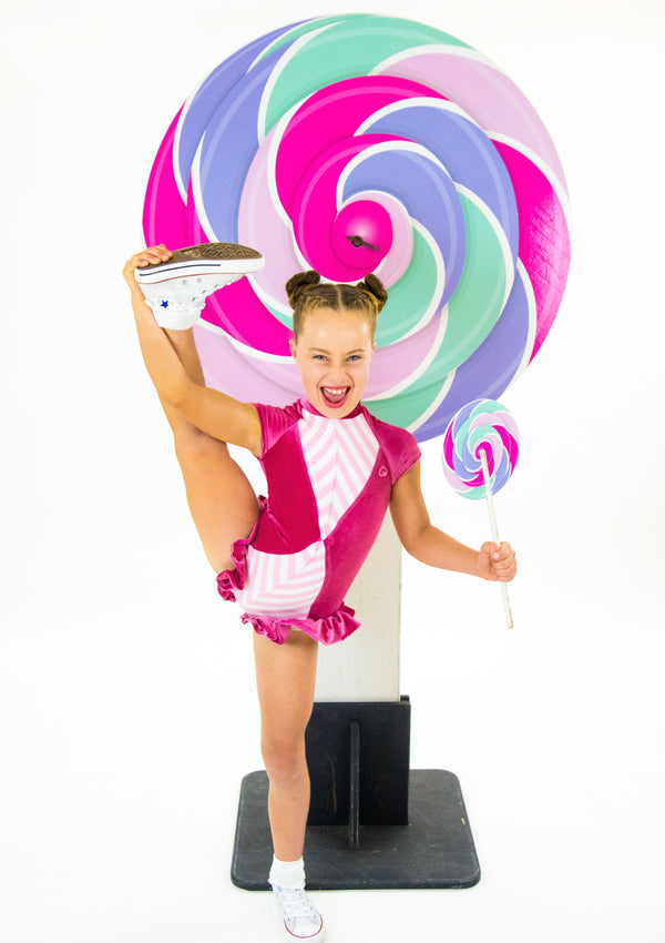 Lollipop Bum - Kids Ruffle Leotard