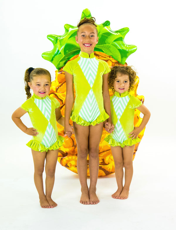 Little Lime - Kids Ruffle Leotard